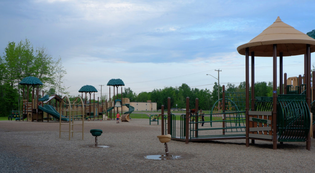 riverview east playground moncton pickle planet large fence school