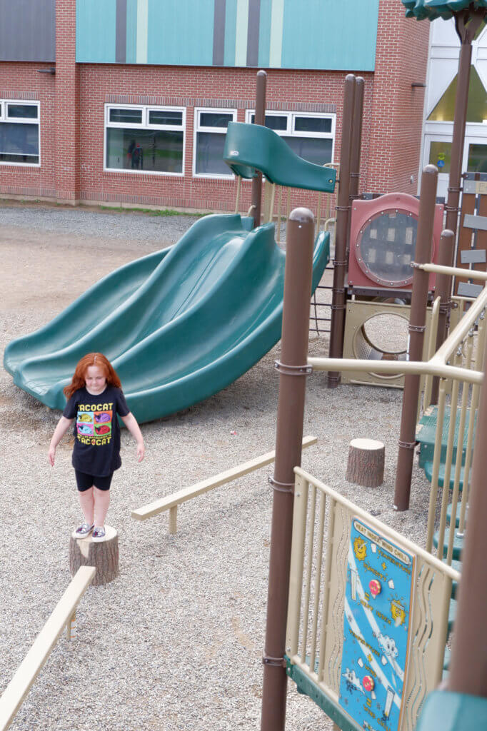 riverview east playground school moncton pickle planet climbing slide