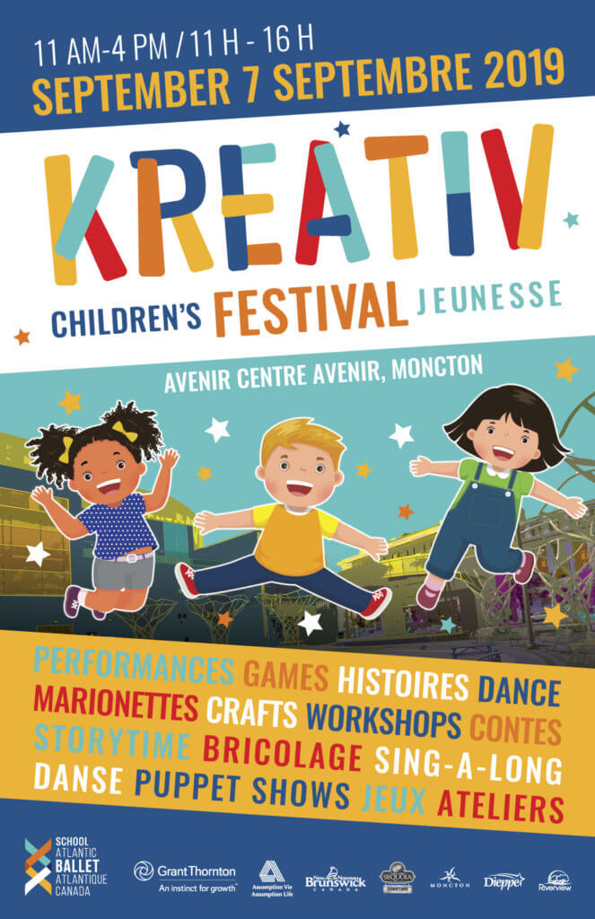 kids festival moncton fall 2019 kreativ childrens jeunesse atlantic ballet avenir centre games fun family