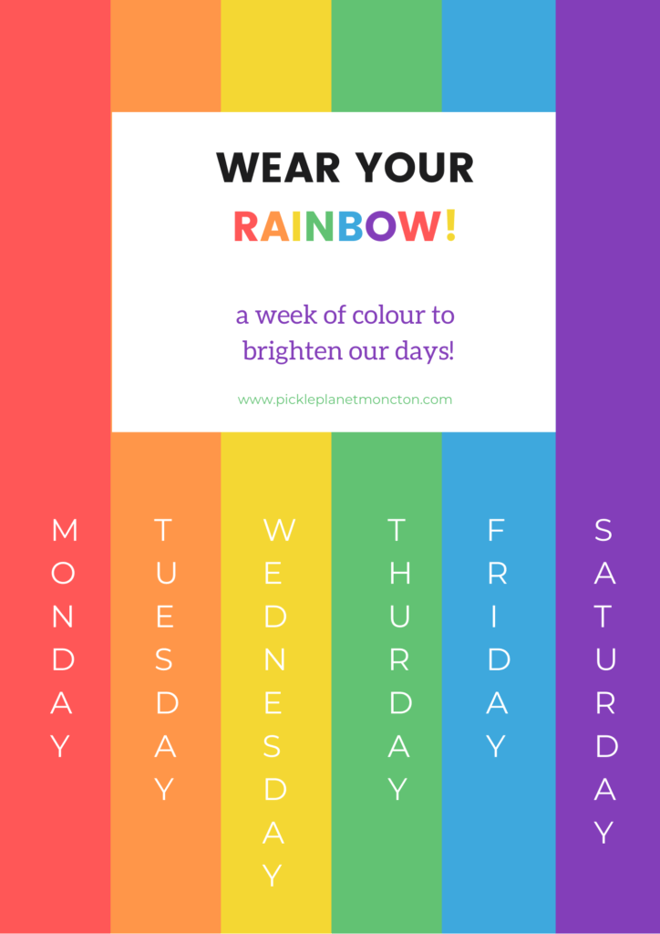 rainbow photo clothing challenge covid 19 pickle planet moncton
