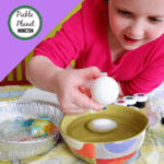 easy edible whipped cream dyed easter eggs pickle planet