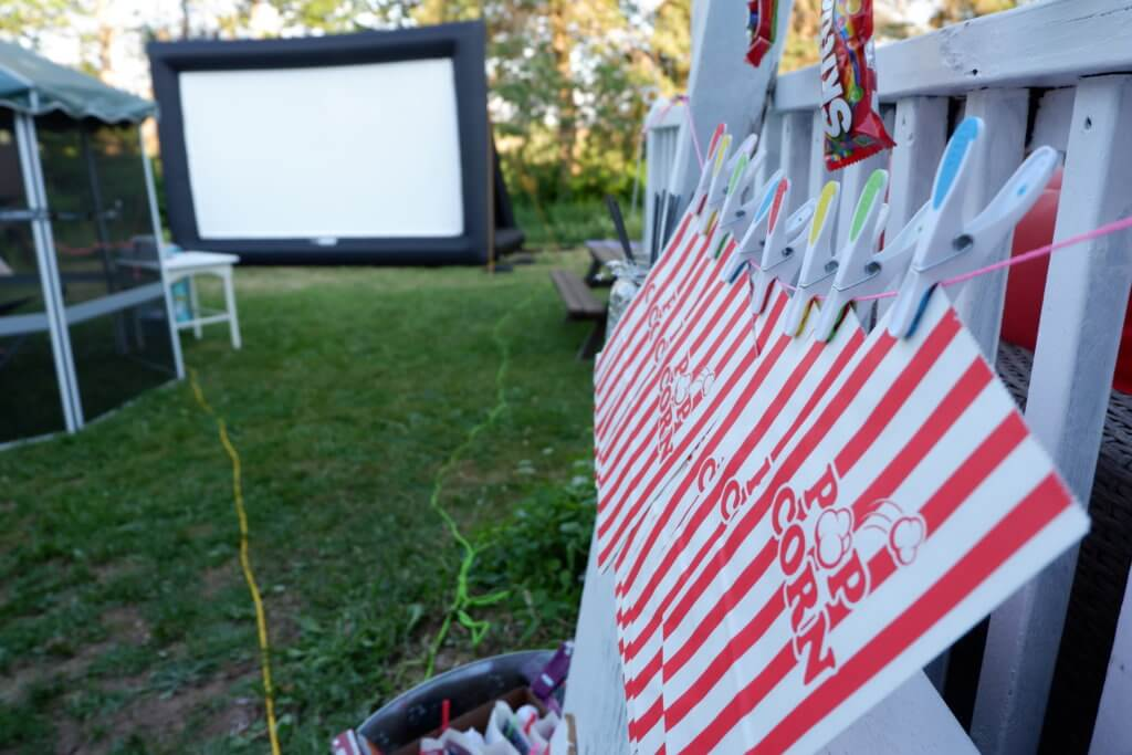Backyard Movie Birthday Party Rental Ideas Moncton Pickle Planet Confetti Fizz Dieppe Riverview New Brunswick