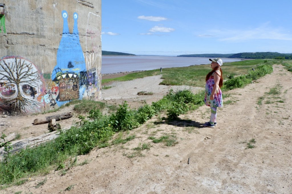 daytrip staycation ideas moncton hillsborough gypsum silo wharf walking trail graffiti